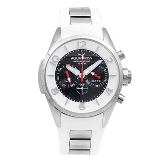 Aquaswiss Trax 5H Unisex White and Silver Stainless Steel Watch