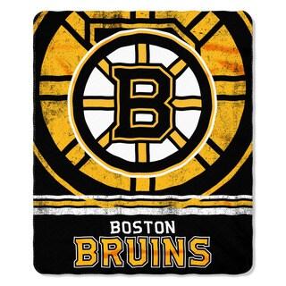 NHL 031 Bruins Fade Away Fleece Throw