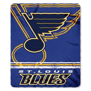 NHL 031 Blues Fade Away Fleece Throw