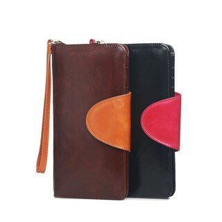Vicenzo Leather Maine Distressed Leather Compact Wallet
