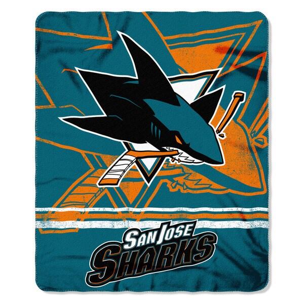 NHL 031 Sharks Fade Away Fleece Throw