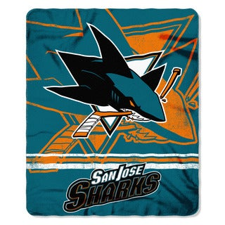 NHL 031 Sharks Fade Away Fleece Throw