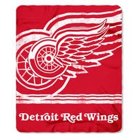 NHL 031 Red Wings Fade Away Fleece Throw