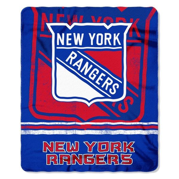 NHL 031 Rangers Fade Away Fleece Throw
