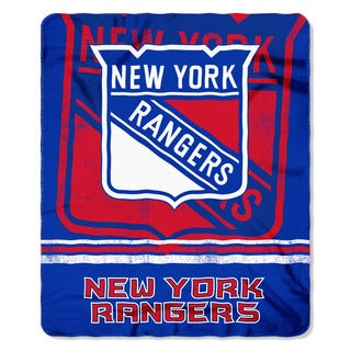 NHL 031 Rangers Fade Away Fleece Throw