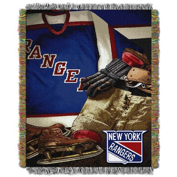 NHL 051 Rangers Vintage Throw