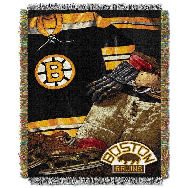NHL 051 Bruins Vintage Throw