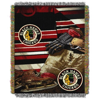 NHL 051 Blackhawks Vintage Throw