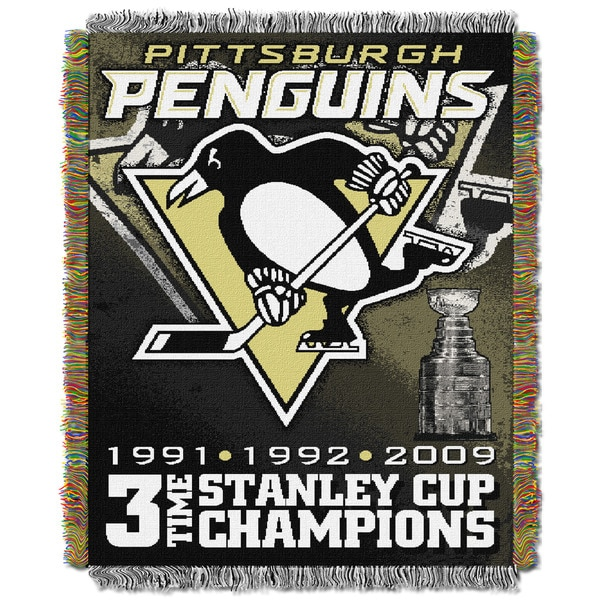 NHL 051 Penguins Commemorative Throw