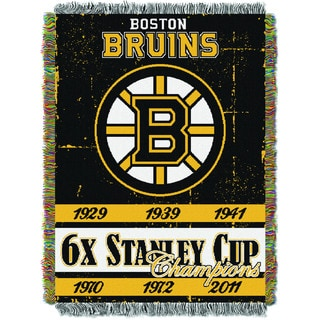 NHL 051 Bruins Commemorative Throw