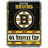 NHL 051 Bruins Commemorative Throw