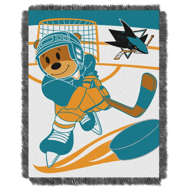 NHL 044 Sharks Baby Throw