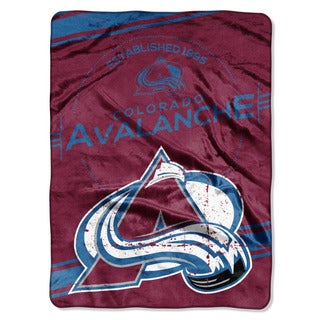 NHL 801 Avalanche Stamp Raschel Throw