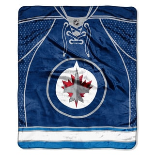 NHL 701 Winnipeg Jets Jersey Raschel Throw