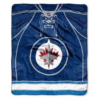NHL 701 Winnipeg Jets Jersey Raschel Throw