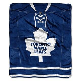 NHL 701 Maple Leafs Jersey Raschel Throw