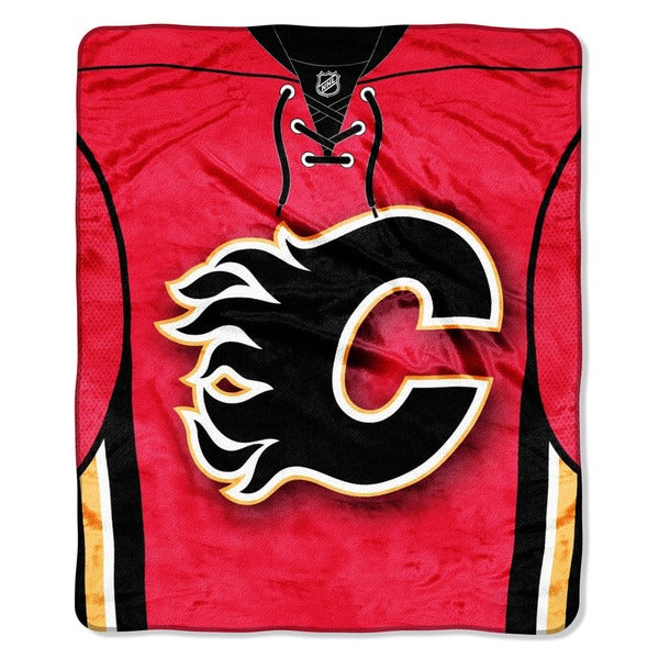 NHL 701 Flames Jersey Raschel Throw