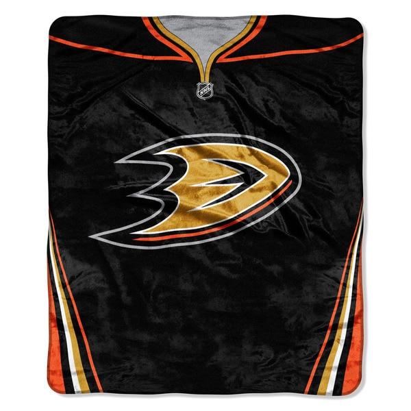 NHL 701 Ducks Jersey Raschel Throw