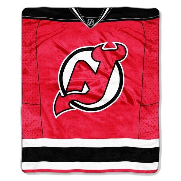 NHL 701 Devils Jersey Raschel Throw