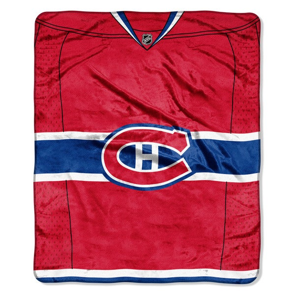 NHL 701 Canadiens Jersey Raschel Throw