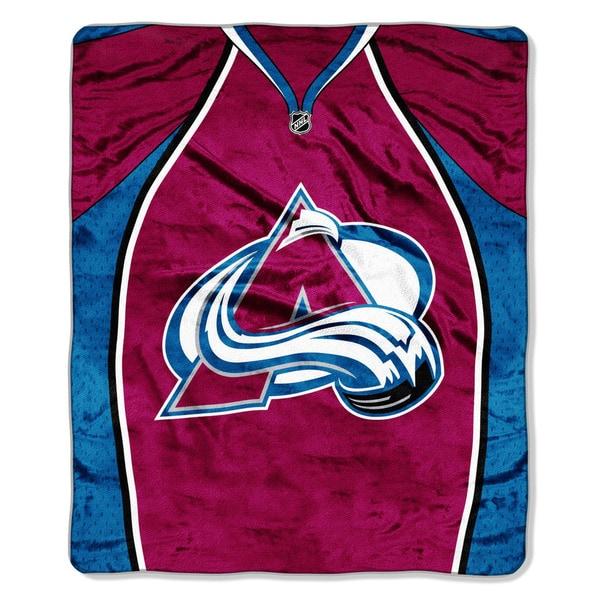 NHL 701 Avalanche Jersey Raschel Throw