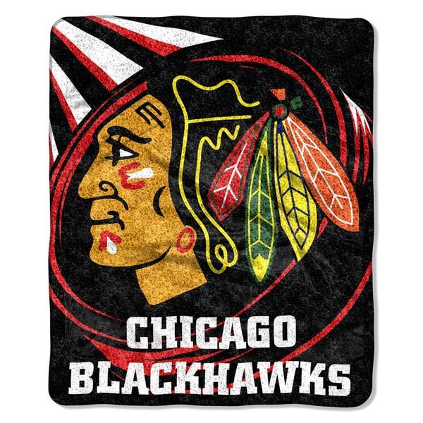 NHL 065 Blackhawks Sherpa Puck Throw