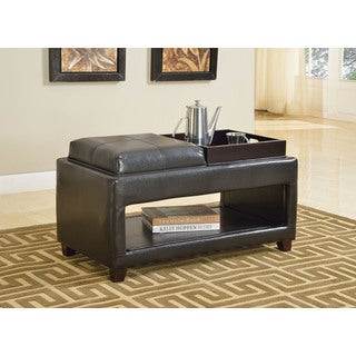 Gosse Dark Brown 2-tray Storage Bench