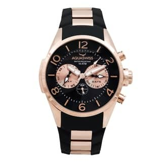 Aquaswiss Unisex Trax 5H Black and Rosegold Stainless Steel Watch https://ak1.ostkcdn.com/images/products/12112937/P18973924.jpg?impolicy=medium