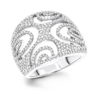 Luxurman 14K Unique Diamond Ring Cut-Out Motif 1.06ct