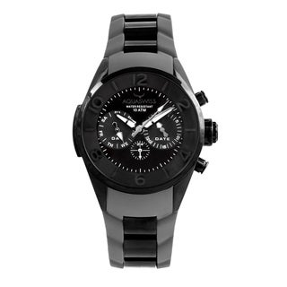 Aquaswiss Unisex TR805026 Trax 5H Black/ Grey Stainless Steel and Silicone Watch