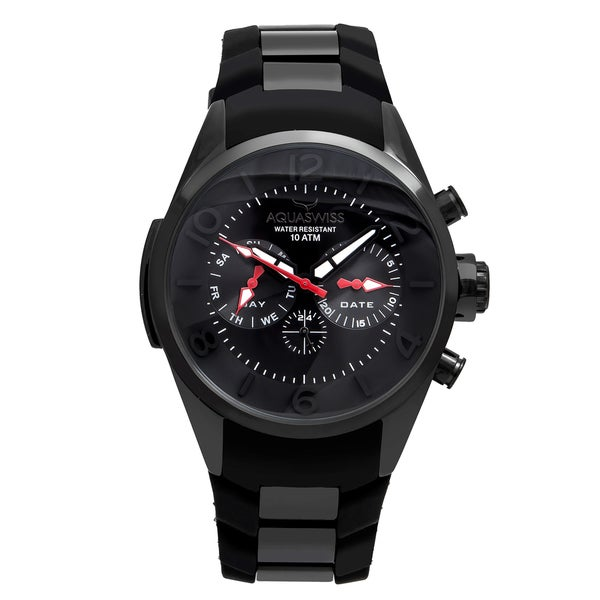Aquaswiss Unisex Trax 5H Stainless Steel Black Watch. Opens flyout.