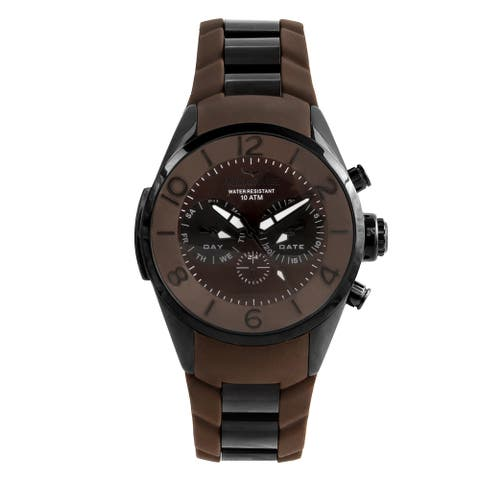 Aquaswiss Unisex Trax 5H Stainless Steel Brown Watch