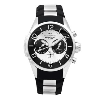 Aquaswiss Unisex TR805012 Trax 5H Black/ Silver Stainless Steel and Silicone Watch