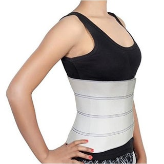 Abdominal Binder 12-inch High Support for Post Pregnancy, Post-surgical, and Abdominal Injuries