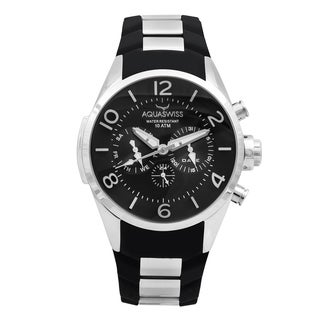Aquaswiss Unisex Trax Stainless Steel Black Watch