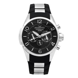 Aquaswiss Unisex Trax Stainless Steel Black Watch|https://ak1.ostkcdn.com/images/products/12112987/P18973986.jpg?impolicy=medium
