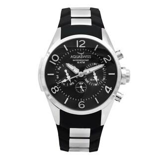Aquaswiss Unisex Trax Stainless Steel Black Watch