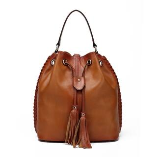 Vicenzo Leather Chantel Leather Bucket Handbag Backpack|https://ak1.ostkcdn.com/images/products/12112993/P18973979.jpg?impolicy=medium