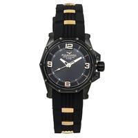 Aquaswiss Unisex Black/ Gold Vessel Watch