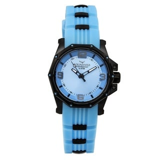 Aquaswiss Unisex Blue Vessel Blue Stainless Steel and Silicone Watch