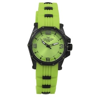 Aquaswiss Unisex 81M004 Vessel M Green Silicone/ Stainless Steel/ Sapphire-coated Metal Watch