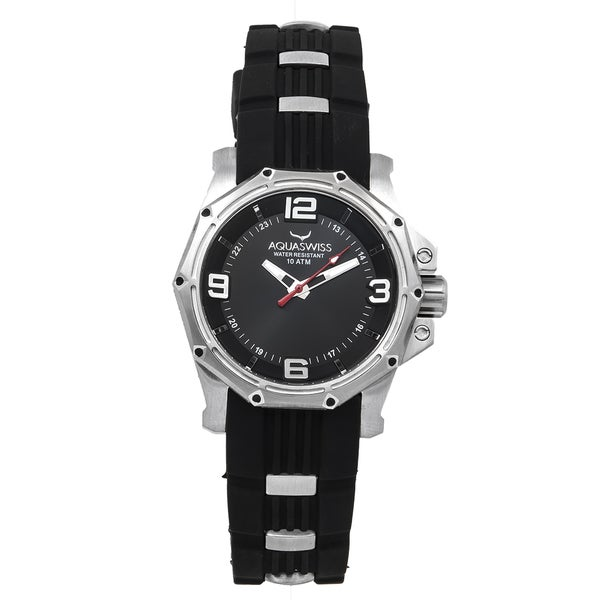 Aquaswiss Unisex Vessel M Black Stainless Steel Watch