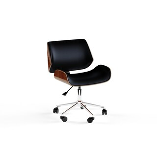 Carson Carrington Herning Wood and Faux-leather Office Chair (2 options available)