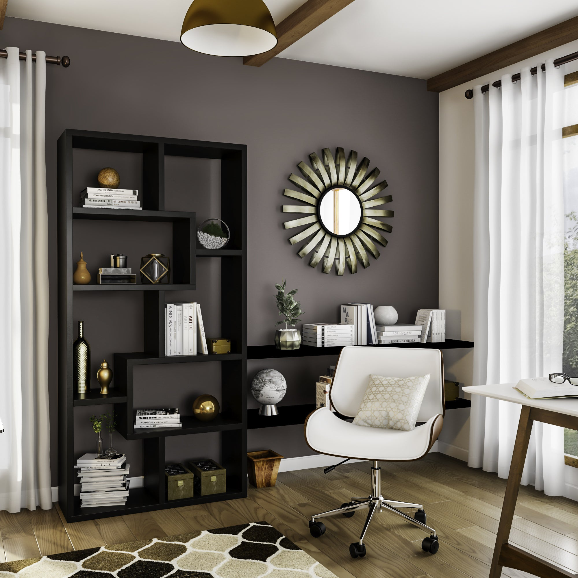 Shop porthos home dove wood and faux leather office chair free shipping on orders over 45 overstock com 12113032