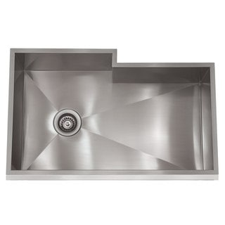 Zero Radius Stainless Steel 31.5-inch x 19.5-inch Bump-out Sink