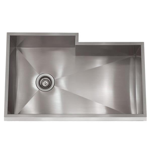 Kitchen Sink Bump Out: Shop Zero Radius Stainless Steel 31.5-inch X 19.5-inch