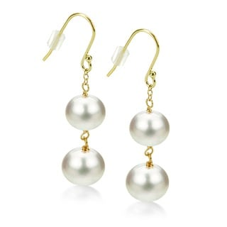 DaVonna 18k Gold over Silver Tin Cup Freshwater Pearl 3-Piece Jewelry Set