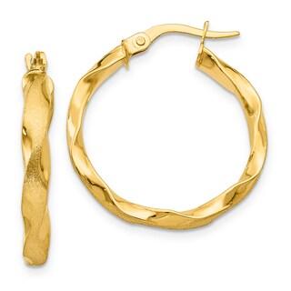 Versil 14k Yellow Gold Braided Hoop Earrings