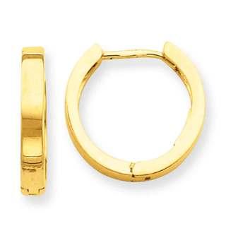 Versil 14k Yellow Gold Hinged Hoop Earrings