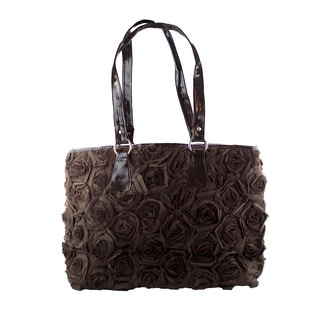 Dark Chocolate Hand-sewn Fashion Tote Bag